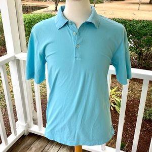 Vineyard Vines Aqua Green Mercerized Polo Shirt. M